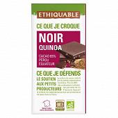 Ethiquable chocolat noir quinoa bio 100g