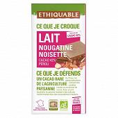 Ethiquable chocolat lait nougatine noisette bio 100g