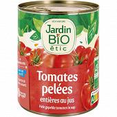 Jardin bio étic tomates entiéres pelées au jus bio boïte métal 800g
