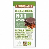 Ethiquable chocolat noir amande bio 100g