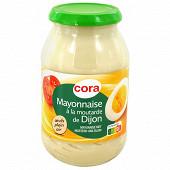 Cora mayonnaise à la moutarde de Dijon bocal 470gr