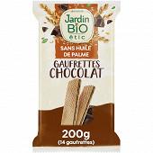 Jardin bio étic fine gaufrette chocolat bio étui de 200g