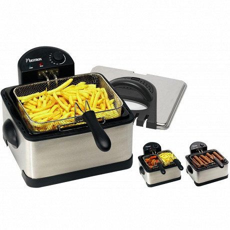 Bestron - Maxi friteuse 4.5l inox 1.5kg ou 2x750gr DF402B