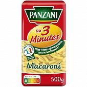 Panzani macaroni cuisson rapide 3 min 500g