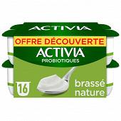 Activia bifidus brassé nature 16x125g Offre Découverte