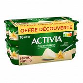Activia saveur vanille sans arome artificiel 16x125g offre découverte