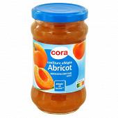 Cora confiture d'abricot allégée en sucres 335g