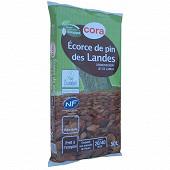 Cora écorce de pin des landes 50l calibre 20/40mm  utilisable en agriculture biologique