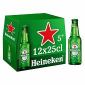 Heineken bière blonde premium 12x25cl 5%vol
