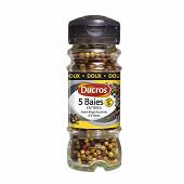 Ducros flacon mélange 5 baies entières doux n°5 30g