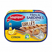 Saupiquet filets de sardines grilles sans aretes citron - 70G