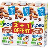 Bjorg boisson amande chocolat lot 2+1 offert  3l