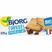 Bjorg fourrés chocolat au lait bio 225g