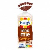 Harrys 100% mie pain de mie sans croûte complet 500g