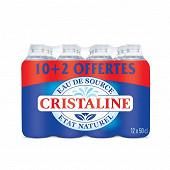 Cristaline eau de source naturelle 10x50cl + 2 offertes