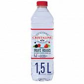 Cristaline eau de source aromatisée fraise et framboise 1.50l