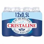 Cristaline eau de source naturelle 12x50cl