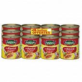 Panzani ravioli pur boeuf 4/4 lot de 8 + 4 boîtes offertes