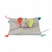 Doudou carré plat elidou l'éléphant Bébé Confort