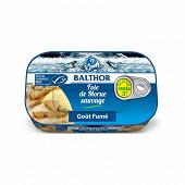 Balthor foie de morue goût fumé 123g
