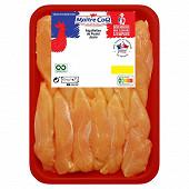 Aiguillettes de poulet jaune barquette 450g