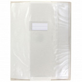 Cora protège cahier 24x32 pvc avec rabats 15/100 transparent assorti