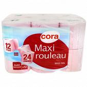 Cora papier toilette 2 plis compact 12 rouleaux