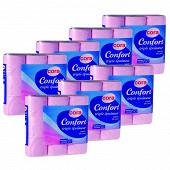 Cora papier toilette 3 plis rose x 63 rouleaux (lots de 7 paquets x9 rouleaux)