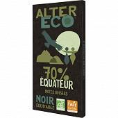 Alter Eco chocolat noir équateur 70% 100g