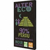 Alter Eco chocolat noir 90% bio 100g