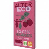 Alter éco chocolat noir éclats de framboises 100g