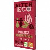 Alter Eco chocolat noir intense dégustation bio 100g