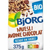 Bjorg muesli avoine chocolat  bio 375g
