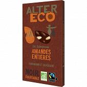 Alter Eco chocolat noir amandes entières 200g