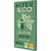 Alter Eco chocolat noir éclats de menthe bio 100g