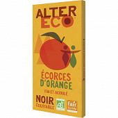 Alter Eco chocolat noir écorces d'orange bio 100g