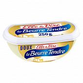 Elle & vire beurre tendre de normandie doux 82%mg barquette 250g