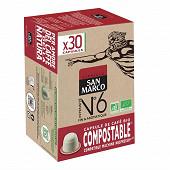 San marco capsule n°6 bio et compostable x30 153g