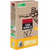 San marco n°7 10 capsules bio/compostable 51g