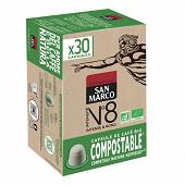 San marco capsule n°8 bio et compostable x30 153g