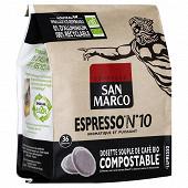 San marco dosettes souples espresso bio n°8 x36 250g
