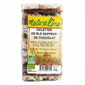 Naturaline galettes de blé nappées de chocolat bio 150g