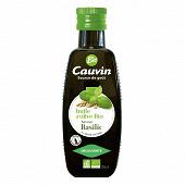 Cauvin huile d'olive biologique au basilic 25cl