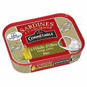 Connetable sardines pêche durable msc huile d'olive extra vierge bio 135g