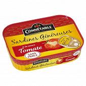 Connétable sardines généreuses à la tomate 140g