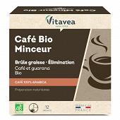 Vitavea aqualigne café minceur arabica bio 12 sachets solubles 24g