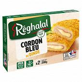 Réghalal cordons bleus de dinde halal 2x100g