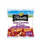 Florette baby carottes & radis prêts à croquer 200g