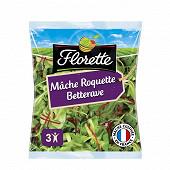 Florette salade trio mâche roquette betterave sachet 100g