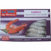 La table des Pêcheurs crevette entières crues 800g
